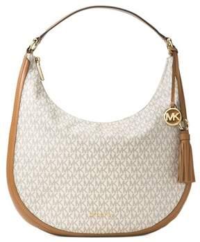 Michael Kors Lydia Large Logo Hobo Shoulder Bag. - IVORY - STYLE