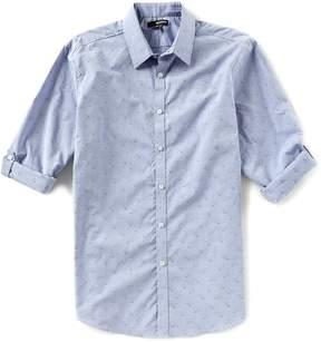 Murano Floral Print Jacquard Long-Sleeve Woven Shirt