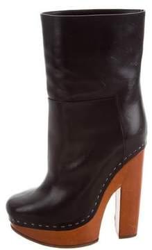 Celine Leather Platform Boots