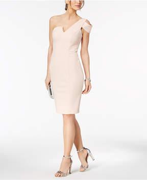 Betsy & Adam One-Shoulder Sheath Dress