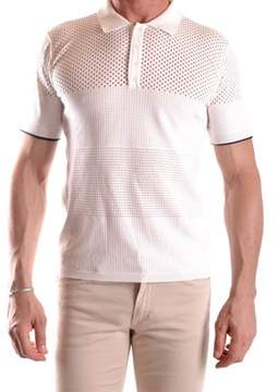 Hosio Men's White Viscose Polo Shirt.