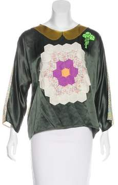 Creatures of the Wind Silk Paneled Blouse