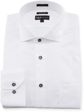 Neiman Marcus Trim-Fit Regular-Finish Textured Dress Shirt