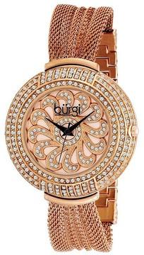Burgi Rose Gold-tone Stainless Steel Ladies Watch