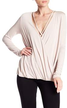 Angie Surplice Neck Long Sleeve Strappy Top