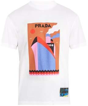 Prada Boat-print cotton T-shirt