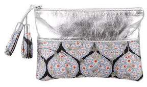 Suno Medallion Brocade Clutch
