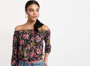 Dynamite Mesh Off-The-Shoulder Top