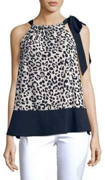 Ellen Tracy Cheetah Print Halter Top
