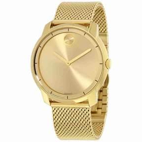 Movado Bold Gold Dial Gold Tone Mesh Men's Watch 3600373