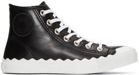 Chloé Black Kyle High-Top Sneakers