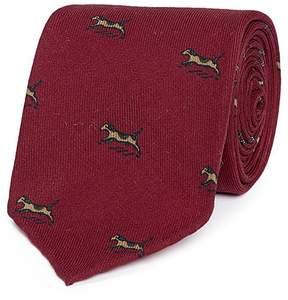 Drakes Drake ' S Dog print wool twill tie