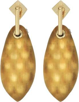 Alexis Bittar Lucite Post w/ Back Pave Ball Detail Earrings