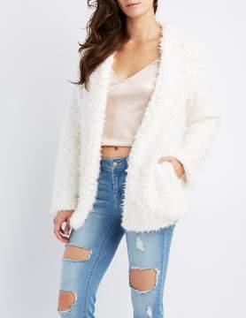 Charlotte Russe Shaggy Faux Fur Jacket