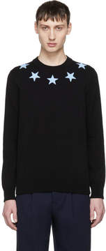 Givenchy Black and Blue Stars Sweater
