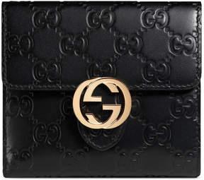 Gucci Icon Signature wallet - BLACK GUCCI SIGNATURE - STYLE