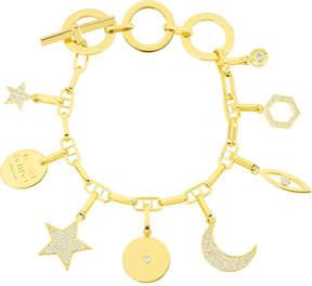 Henri Bendel Pave Charm Bracelet