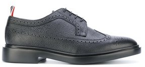 Thom Browne Men's Black Leather Lace-up Shoes.