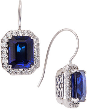 FANTASIA CZ Pave & Synthetic Sapphire Earrings