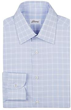 Brioni Men's Plaid Cotton Dress Shirt