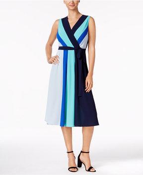 ECI Colorblocked Midi Dress