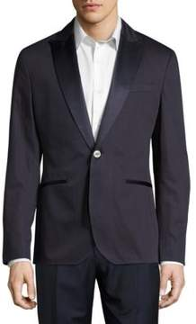 Hardy Amies Mixed Texture One Button Suit Jacket