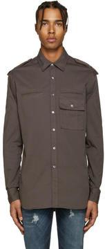 Pierre Balmain Grey Epaulet Shirt