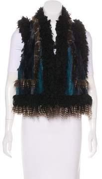 Anna Sui Faux Fur Patchwork Vest
