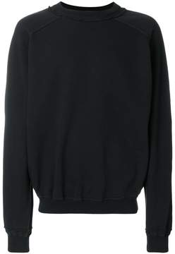 Haider Ackermann distressed neck line sweatshirt
