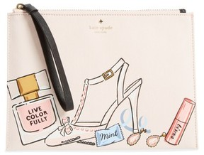 Kate Spade Wedding Belles - This Is The Life Medium Bella Pouch - Ivory - IVORY - STYLE