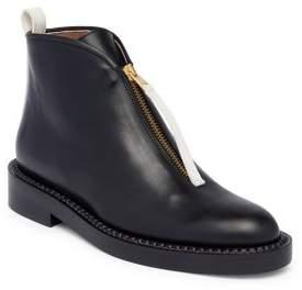 Marni Hinge Leather Flat Booties