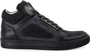 Lanvin panelled high top sneakers