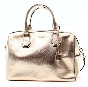 Michael Kors Gold Pebble Leather Mercer Duffle Satchel Bag Purse - GOLDS - STYLE