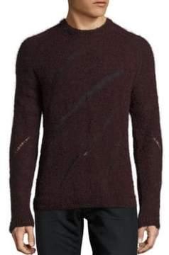 BLK DNM Distressed Intarsia Sweater