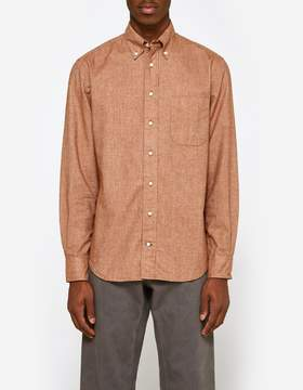 Gitman Brothers Flannel Chambray Shirt in Rust