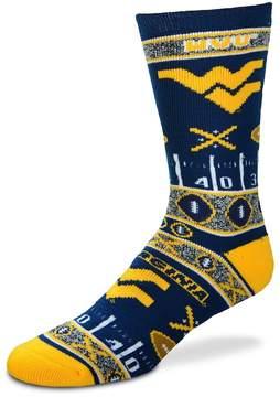 For Bare Feet Adult West Virginia Mountaineers Super Fan Crew Socks