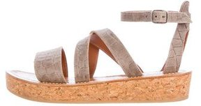 K Jacques St Tropez Thoronet Embossed Sandals