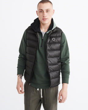 Abercrombie & Fitch Lightweight Down-Filled Packable Puffer Vest