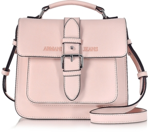 Armani Jeans Signature Eco Leather Square Crossbody Bag