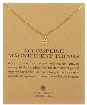 Dogeared 14K Yellow Gold Vermeil 'Accomplish Magnificent Things' Hashtag Pendant Necklace