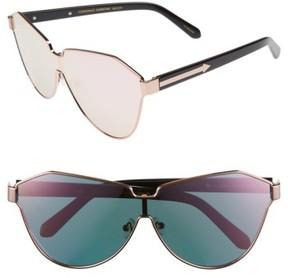 Karen Walker Women's 'Cosmonaut - Superstars' Mirrored Lens Sunglasses - Rose Gold With Black