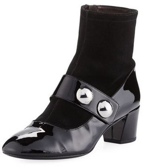 Marc Jacobs Margaux Cabochon Patent Ankle Boot