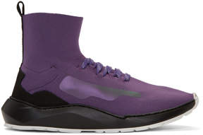 Filling Pieces Purple Mid Knit Arch Runner Sneakers