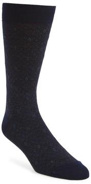 Pantherella Men's Diamond Wool Blend Socks