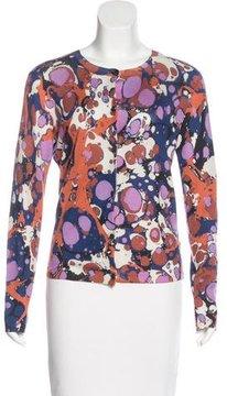 Bottega Veneta Cashmere Abstract Pattern Cardigan