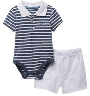 Calvin Klein Polo Bodysuit & Shorts Set (Baby Boys)