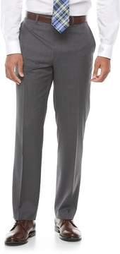Chaps Men's Performance Classic-Fit Wool-Blend Comfort Stretch Flat-Front Suit Pants