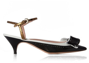 Rochas Bow-embellished leather pumps