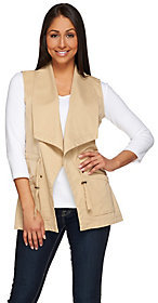 Denim & Co. As Is Open Front Cascade Utility Vest