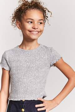 Forever 21 Girls Lettuce Edge Tee (Kids)